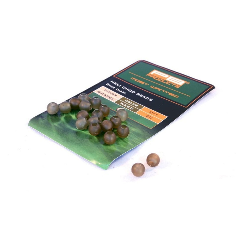 PB Products Heli-Chod Beads Gravel/Weed 20szt